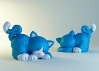 Силиконовая форма Котенок 3D НП 1 шт - Все для мыла ручной работы - интернет-магазин Blesk-ekb.ru, Екатеринбург
