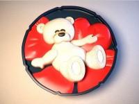 Силиконовая форма Мишка влюбленный 2D 1 шт - Все для мыла ручной работы - интернет-магазин Blesk-ekb.ru, Екатеринбург