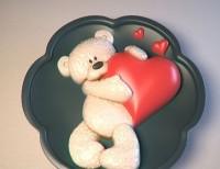 Силиконовая форма Мишка с сердцем № 2 2D 1 шт - Все для мыла ручной работы - интернет-магазин Blesk-ekb.ru, Екатеринбург