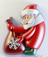 Силиконовая форма Дед Мороз 2 2D - Все для мыла ручной работы - интернет-магазин Blesk-ekb.ru, Екатеринбург