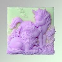 Силиконовая форма Единорожки 2D 1шт - Все для мыла ручной работы - интернет-магазин Blesk-ekb.ru, Екатеринбург