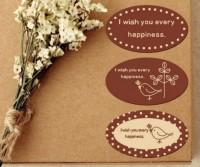 Наклейки Желаю счастья 3 шт - Все для мыла ручной работы - интернет-магазин Blesk-ekb.ru, Екатеринбург