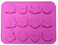 Силиконовая форма Совята 3*3*1 12 шт    - Все для мыла ручной работы - интернет-магазин Blesk-ekb.ru, Екатеринбург