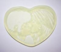 Текстурный вкладыш Сердце №3 8*5,5 1 шт - Все для мыла ручной работы - интернет-магазин Blesk-ekb.ru, Екатеринбург