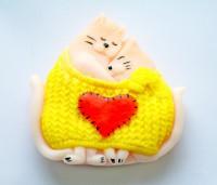 Силиконовая форма Кошки в свитере 2D 1 шт - Все для мыла ручной работы - интернет-магазин Blesk-ekb.ru, Екатеринбург
