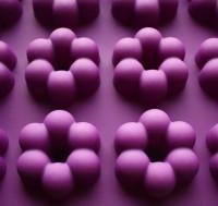 Силиконовая форма Цветочки-колечки 5*5*1,5 6 шт   - Все для мыла ручной работы - интернет-магазин Blesk-ekb.ru, Екатеринбург