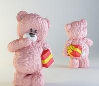 Силиконовая форма Мишка с подарком 3D 1 шт   - Все для мыла ручной работы - интернет-магазин Blesk-ekb.ru, Екатеринбург
