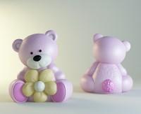 Силиконовая форма Мишка с цветочком НП 3D - Все для мыла ручной работы - интернет-магазин Blesk-ekb.ru, Екатеринбург