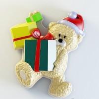 Силиконовая форма Мишка с подарками №2  2D 1шт - Все для мыла ручной работы - интернет-магазин Blesk-ekb.ru, Екатеринбург