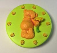 Силиконовая форма Мишка с ромашкой 2D 1шт - Все для мыла ручной работы - интернет-магазин Blesk-ekb.ru, Екатеринбург