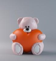 Силиконовая форма Мишка с сердцем НП 3D 1 шт - Все для мыла ручной работы - интернет-магазин Blesk-ekb.ru, Екатеринбург