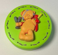 Силиконовая форма Мишка с шампанским 2D - Все для мыла ручной работы - интернет-магазин Blesk-ekb.ru, Екатеринбург