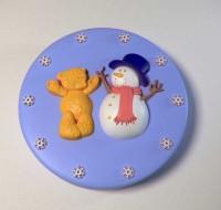 Силиконовая форма Мишка со снеговиком 2D - Все для мыла ручной работы - интернет-магазин Blesk-ekb.ru, Екатеринбург