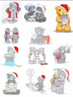 Водорастворимая бумага с печатью Мишки Новый Год 1 шт - Все для мыла ручной работы - интернет-магазин Blesk-ekb.ru, Екатеринбург