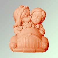 Силиконовая форма Молодожены 3D - Все для мыла ручной работы - интернет-магазин Blesk-ekb.ru, Екатеринбург