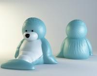 Силиконовая форма Тюлень 3D НП 1 шт - Все для мыла ручной работы - интернет-магазин Blesk-ekb.ru, Екатеринбург