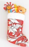 Силиконовая форма Новогодний носок  2D 1шт - Все для мыла ручной работы - интернет-магазин Blesk-ekb.ru, Екатеринбург