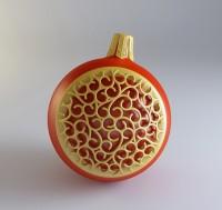 Силиконовая форма Новогодний шар 3D 1шт - Все для мыла ручной работы - интернет-магазин Blesk-ekb.ru, Екатеринбург