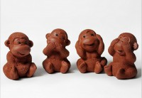 Силиконовая форма Набор обезьянок 4 шт 3D  - Все для мыла ручной работы - интернет-магазин Blesk-ekb.ru, Екатеринбург