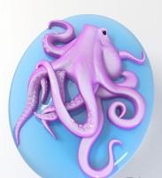 Силиконовая форма Осьминог 2D - Все для мыла ручной работы - интернет-магазин Blesk-ekb.ru, Екатеринбург