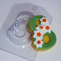 Пластиковая форма Восьмерка с нарциссами 1 шт - Все для мыла ручной работы - интернет-магазин Blesk-ekb.ru, Екатеринбург