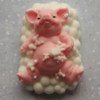 Силиконовая форма Свинка чистюля 1 шт - Все для мыла ручной работы - интернет-магазин Blesk-ekb.ru, Екатеринбург