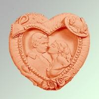 Силиконовая форма Романтика 2D 1шт - Все для мыла ручной работы - интернет-магазин Blesk-ekb.ru, Екатеринбург