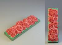 Силиконовая форма под нарезку Розы 2D 1 шт - Все для мыла ручной работы - интернет-магазин Blesk-ekb.ru, Екатеринбург