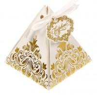 Коробка пирамидка Роскошь золота,7,2 *7,2 х*7,5, 1 шт - Все для мыла ручной работы - интернет-магазин Blesk-ekb.ru, Екатеринбург