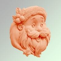 Силиконовая форма Санта 2 2D - Все для мыла ручной работы - интернет-магазин Blesk-ekb.ru, Екатеринбург