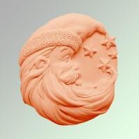 Силиконовая форма Санта 3 2D - Все для мыла ручной работы - интернет-магазин Blesk-ekb.ru, Екатеринбург