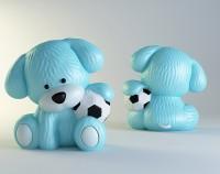 Силиконовая форма щенок с мячиком 3D НП 1 шт - Все для мыла ручной работы - интернет-магазин Blesk-ekb.ru, Екатеринбург