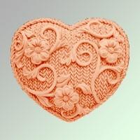 Силиконовая форма Сердце  2D 1шт - Все для мыла ручной работы - интернет-магазин Blesk-ekb.ru, Екатеринбург