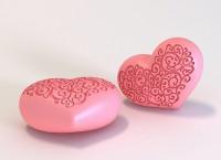 Силиконовая форма Сердце 2 3 D 1 шт - Все для мыла ручной работы - интернет-магазин Blesk-ekb.ru, Екатеринбург