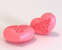 Силиконовая форма Сердце 3 D 1 шт - Все для мыла ручной работы - интернет-магазин Blesk-ekb.ru, Екатеринбург