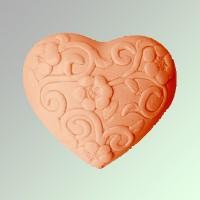 Силиконовая форма Сердце с орнаментом 2D 1 шт - Все для мыла ручной работы - интернет-магазин Blesk-ekb.ru, Екатеринбург