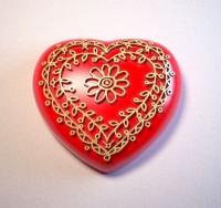 Силиконовая форма Сердце с орнаментом 2 2D 1шт  - Все для мыла ручной работы - интернет-магазин Blesk-ekb.ru, Екатеринбург