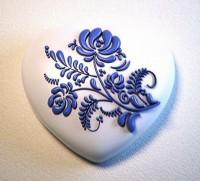 Силиконовая форма Сердце с орнаментом 3 2D 1 шт - Все для мыла ручной работы - интернет-магазин Blesk-ekb.ru, Екатеринбург