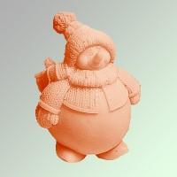 Силиконовая форма Снеговик 3D 1 шт (форма с замками) - Все для мыла ручной работы - интернет-магазин Blesk-ekb.ru, Екатеринбург