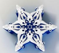 Силиконовая форма Снежинка № 2  2D 1шт - Все для мыла ручной работы - интернет-магазин Blesk-ekb.ru, Екатеринбург
