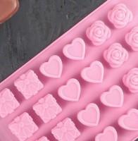 Набор мини форм Подарок, сердце, роза  12 шт на листе - Все для мыла ручной работы - интернет-магазин Blesk-ekb.ru, Екатеринбург