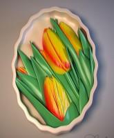 Силиконовая форма Тюльпаны 2 2D 1шт - Все для мыла ручной работы - интернет-магазин Blesk-ekb.ru, Екатеринбург