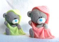 Силиконовая форма Мишка в полотенце 3D 1шт  - Все для мыла ручной работы - интернет-магазин Blesk-ekb.ru, Екатеринбург