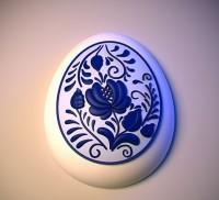 Силиконовая форма Пасхальное яйцо 02 2D - Все для мыла ручной работы - интернет-магазин Blesk-ekb.ru, Екатеринбург