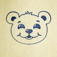 Силиконовый штамп Медвежонок 3,7*2,7 1 шт - Все для мыла ручной работы - интернет-магазин Blesk-ekb.ru, Екатеринбург