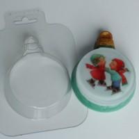 Пластиковая форма Шар/плоский 1 шт          - Все для мыла ручной работы - интернет-магазин Blesk-ekb.ru, Екатеринбург