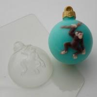 Пластиковая форма Шар шимпанзе на лиане 1 шт       - Все для мыла ручной работы - интернет-магазин Blesk-ekb.ru, Екатеринбург
