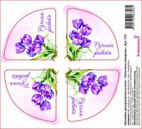 Наклейка уголок Тюльпаны, 4 шт - Все для мыла ручной работы - интернет-магазин Blesk-ekb.ru, Екатеринбург