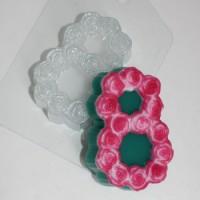 Пластиковая форма Восьмерка с розами,  1 шт - Все для мыла ручной работы - интернет-магазин Blesk-ekb.ru, Екатеринбург