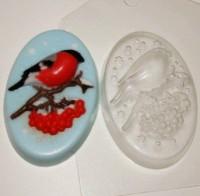 Пластиковая форма Снегирь 1 шт - Все для мыла ручной работы - интернет-магазин Blesk-ekb.ru, Екатеринбург